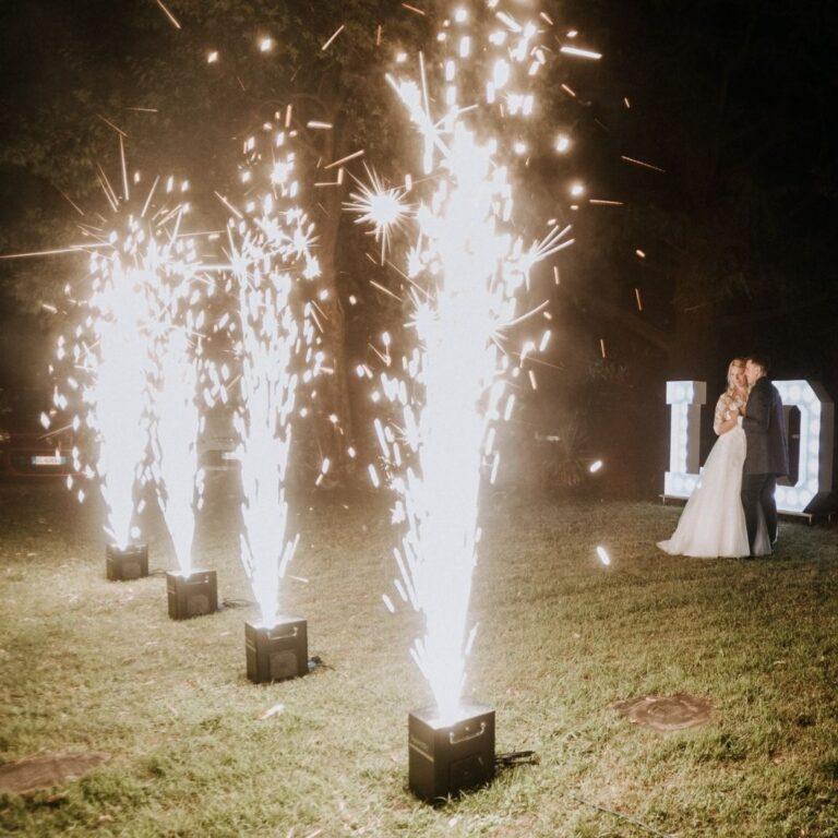 Piroblu matrimonio e fontane pirotecniche