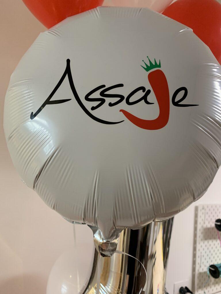 Piroblu palloncino personalizzato per attività commerciale